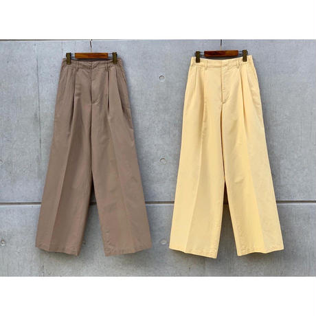 AURALEE / SILK COTTON CLOTH WIDE PANTS
