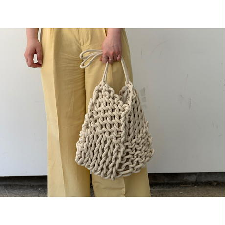 alienina / DORA BAG (NATURAL WHITE × RAW WHITE)