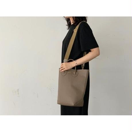 YOUNG&OLSEN / EMBOSSED  LEATHER HAVERSACK M