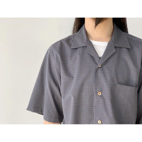 SCYE / Checked Wool Camp Collar Shirt
