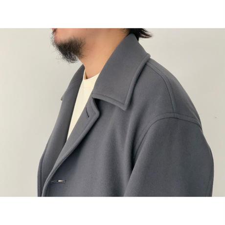 AURALEE (MEN'S) / DOUBLE CLOTH LIGHT MELTON SOUTIEN COLLAR COAT