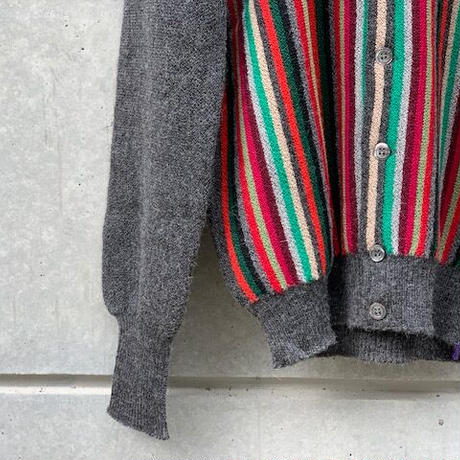 FANNI LEMMER MAYER / 13Colous Front Stripe Alpaca Cardigan