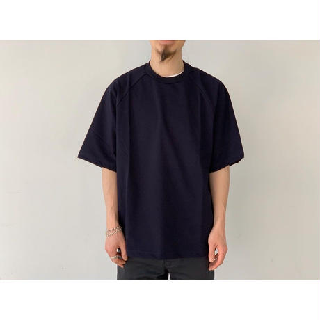 SCYE / Organic Cotton Jersey Raglan T-shirt (BLUE BLACK)