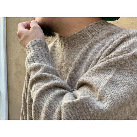 SCYE / SHETLAND WOOL CREW NECK SWEATER