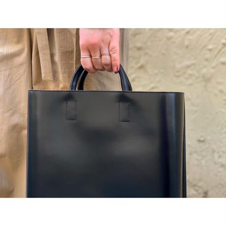 PIENI / TOTE L (BLACK×NATURAL)