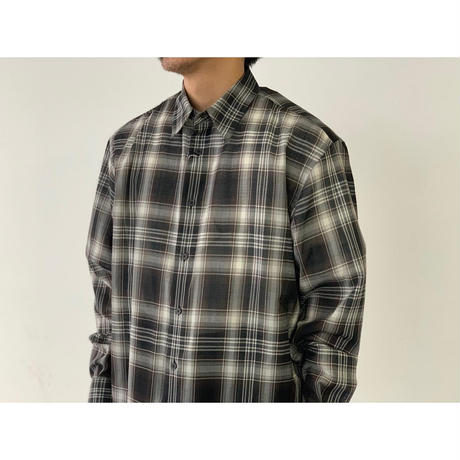 AURALEE / WOOL RECYCLED POLYESTER CLOTH SHIRTS
