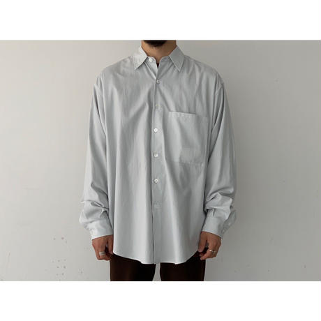 AURALEE / WASHED FINK TWILL BIG SHIRTS