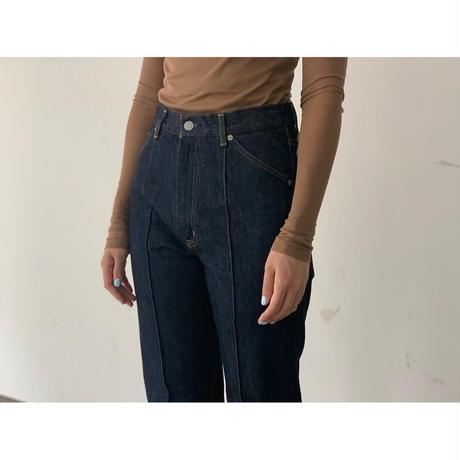 AURALEE / HARD TWIST DENIM PIN TUCK PANTS