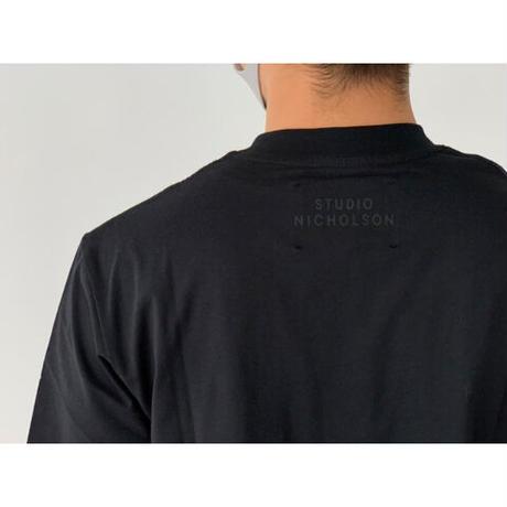 STUDIO NICHOLSON / BRIC LW COMPACT COTTON BRANDED EASY FIT SHORT SLEEVE T-SHIRT