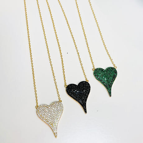 Thin heart necklace