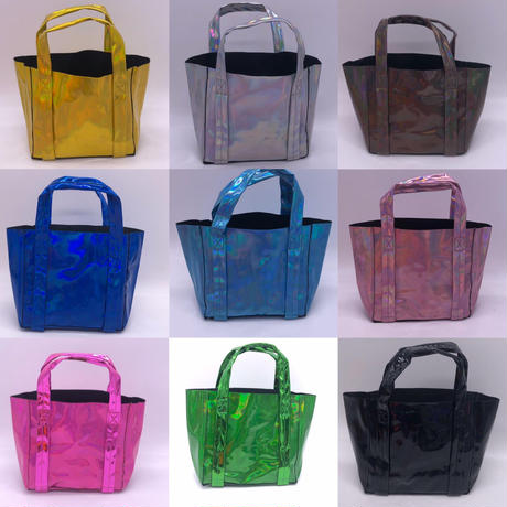 New holographic  mirror tote small