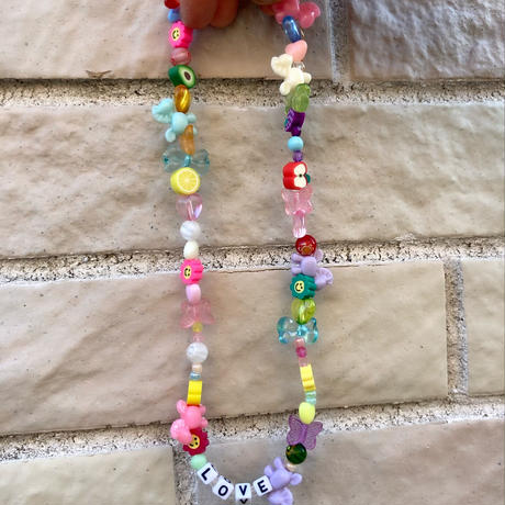 Set of Toy beaded necklace and bracelet/ anklet