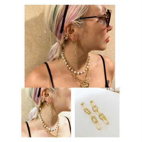 Combi chain earrings