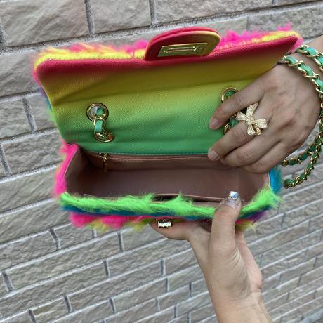 Rainbow monster bag