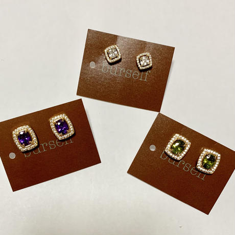 Imported pierced earrings