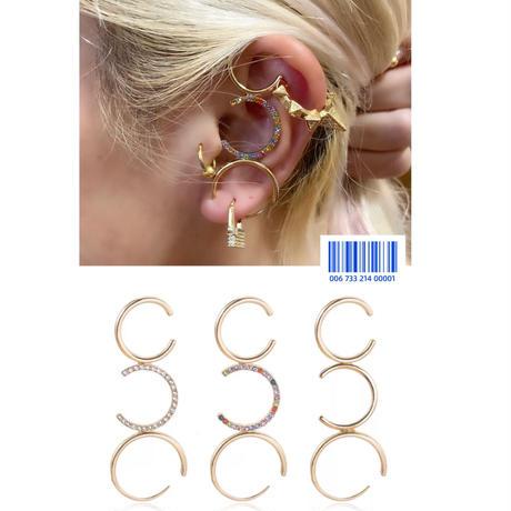 Triple hoop ear cuff