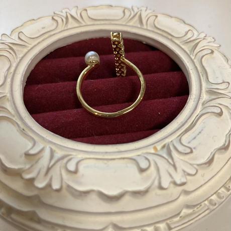 rainbow pearl ring