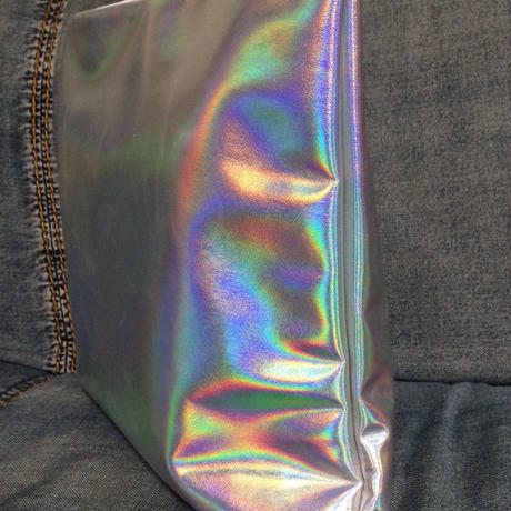 Matte holographic  XL clutch bag