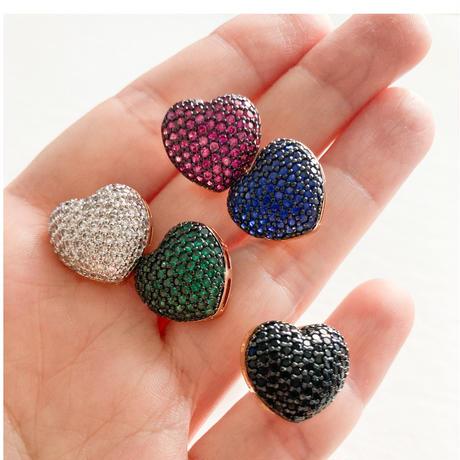 Heart bijoux earrings