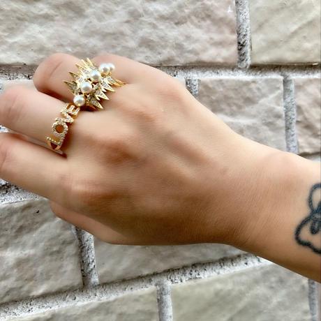 Rock pearl ring