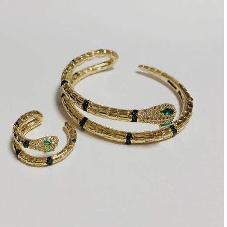 snake bracelet &ring set