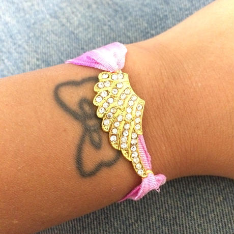 Tie dyed gold  wing bracelet
