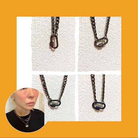 black Lock necklace