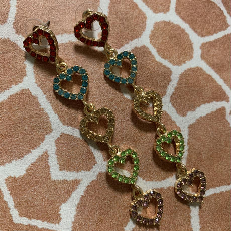 Hearts long earrings
