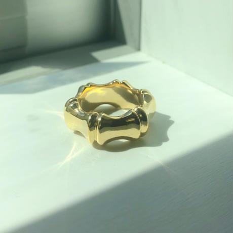 gold bamboo ring