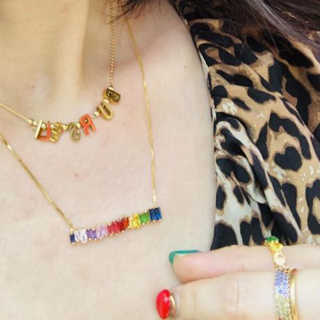 rainbow  color  necklace