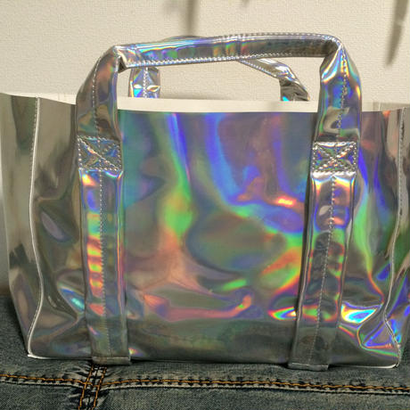 Matte hologram tote bag