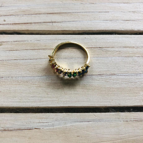 new rainbow color  ring