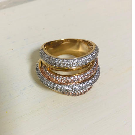 Piled up ring