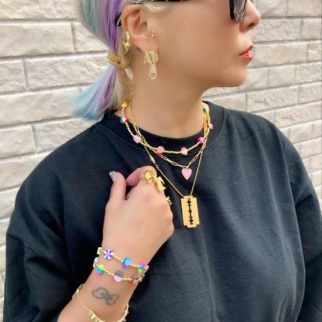 Crystal zip pull earrings