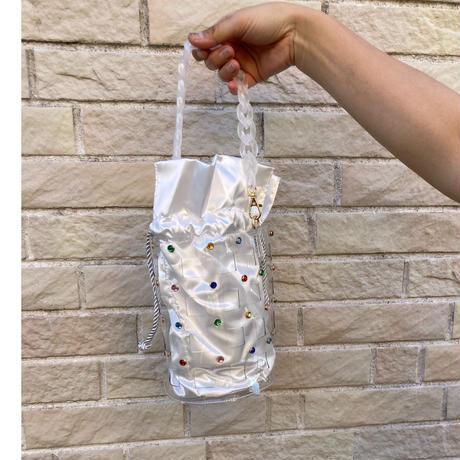 Clear bijoux bucket bag