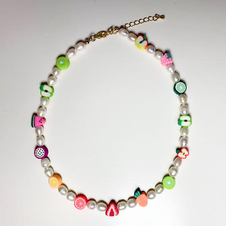 Chunky freshwater pearl necklace w cuties