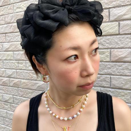 Frilled ribbon headband