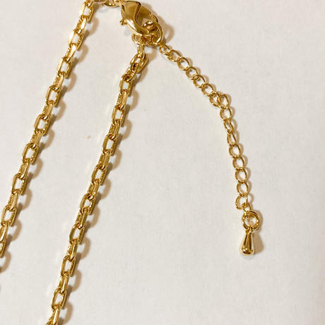Crown letter necklace