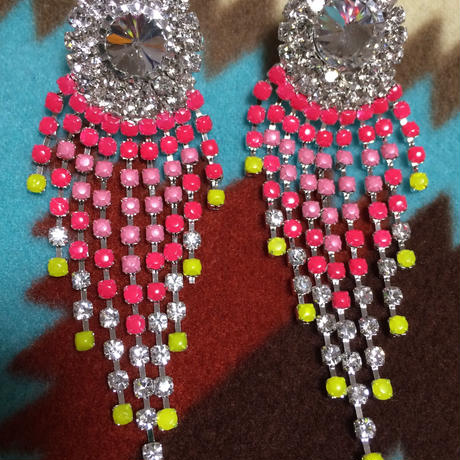 RPM chandelier earrings