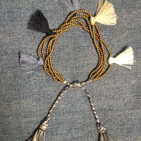 New brass beaded tassel bracelet/anklet