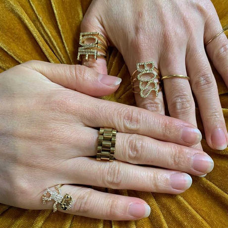 BOSS/LOVE ring