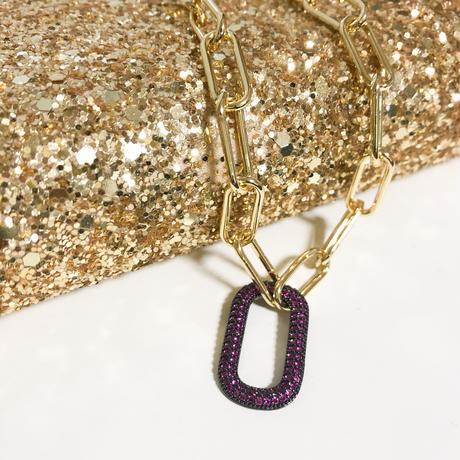 design clasp stone necklace
