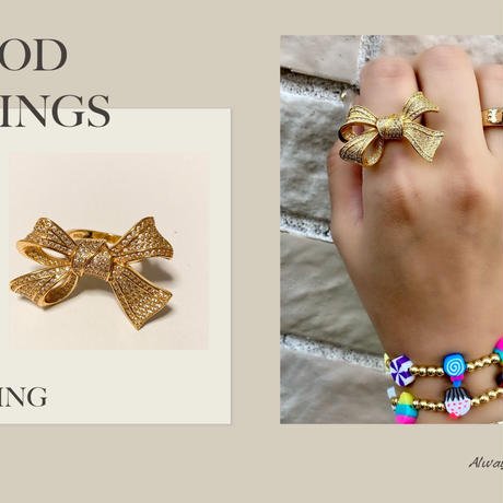 Gold Ribbon ring
