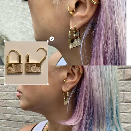 Big lock earrings