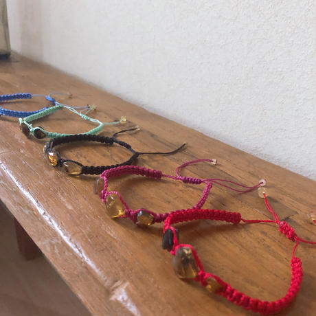 I♡MEXICO amber bracelet w3stones