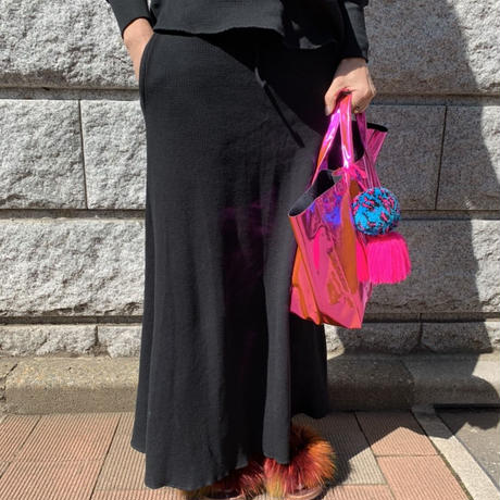burself thermal maxi skirt over sweatpant