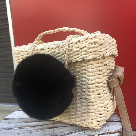 big pom shoulder bag