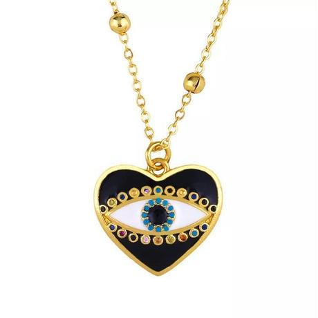 heart eye /open eye necklace