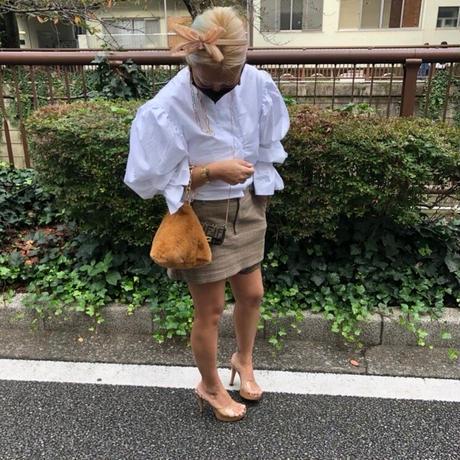 Triangle eco fur bag