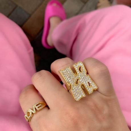 Big letter ring